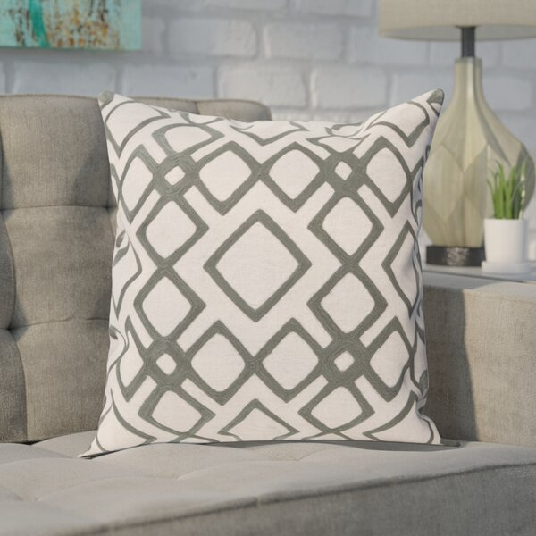 Baumgart Diamond 100% Linen Throw Pillow Cover by Mercury Row